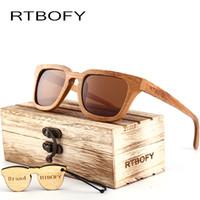 RTBOFY 2017 Holz Sonnenbrille Männer Platz Bambus Sonnenbrille Vintage Holz HD Objektiv Rahmen Handgemachte Sonnenbrille Für Männer Brillen Oculos