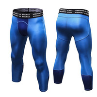 Hombre Gym 3/4 Leggings New Compression Sports Medias Sweat Pants para hombres Pantalones de jogging Running Quick Sporswear Fitness