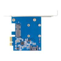 Freeshipping Hot Top Quality PCI-E PCIe per SSD mSATA + SATA 3.0 Combo Extender Adattatore PCI-E per SATAIII Card Worldwide Store Novità