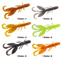 Nova Simulação de cristal macio camarão Worms Crank Bait 6 cores 5.5 cm 1.4g 12 pc / lote Vara de Borracha Macia iscas de pesca