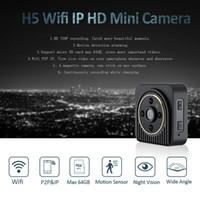 Drahtlose Wifi IP-Minikamera H5 720P HD Micro-Kamera IR-Nachtsicht-Kamera-Körper-Magnetbewegungserkennung Mini-DV DVR