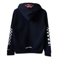 Brief Winter-Hülsen-Plaid-Mouth Kapuzenshirt Warme Fleece-Sweatshirt Mode Männer Frauen Straße Hoody Szie S-XL Norm