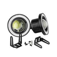 2 adet 12 V 30 W 89mm 3.5 Inç Araba LED COB Sis Melek Gözler DRL Işık Far Lambası Beyaz / Kırmızı / Mavi