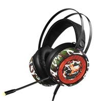 chifre grafeno estilo da camuflagem cabeça com graves mic jogo denoise música HD estéreo surround 3D chamada som profissional auscultadores E-sport