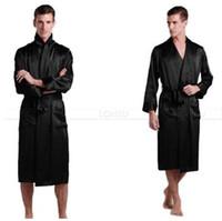 Pigiama di seta da uomo Pigiama da pigiama Pigiama Robe Robes Accappatoio Camicia da notte Loungewear U.S.S, M, L, XL, 2XL, 3XL Plus __5Colori