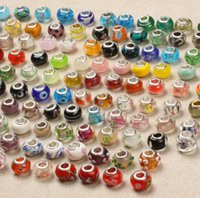 925 Sterling Silver Charm Glass Beads Pendants Murano Hole B...