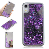Cover For iPhone XR Case Quicksand Flash Glitter Powder Mirr...