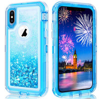 For Iphone XR Case Glitter Liquid Quicksand Floating Flowing...
