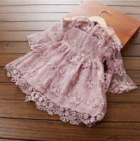Fashion Summer Girl Dress Kids Clothing Tutu Lace Cotton Pri...