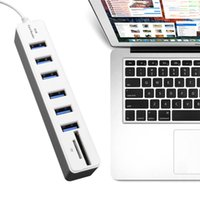 USB 2. 0 Hub 6 Ports High Speed 480 Mbps TF SD Card Reader US...