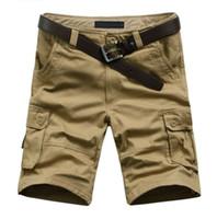 Лето мужская армия грузовой работа повседневная бермуды шорты мужчины классическая мода в целом брюки плюс размер Masculina пляж ММА короткие