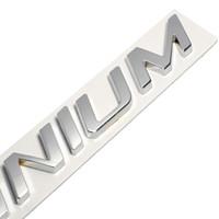 새로운 3D 금속 아연 합금 티타늄 로고 상징 배지 디컬 자동차 스티커 포드 포커스 2에 대 한 자동 꼬리 스티커 피에스타 쿠가 가장자리