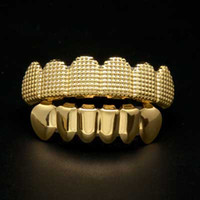 Mens hip hop jewelry Gold Plated Grillzs European and Americ...