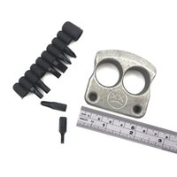 أندي Frankart DFK اصبع حلقة مزدوجة لكمة TC4 التيتانيوم الدفاع عن النفس في الهواء الطلق جيب الإبزيم بقاء EDC Knuck المفاصل أدوات متعددة