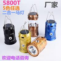 Multicolor LED lanterna solar camping camping luzes, barraca ao ar livre luzes, luzes de emergência telescópica por atacado