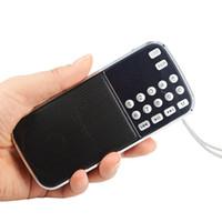 L-088 휴대용 스피커 MP3 오디오 뮤직 플레이어 손전등 USB FM 라디오 스피커 FM AUX TF 슬롯