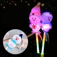 Рождество светодиодные мигающие палочки свет вверх игрушки дети Рождество Снеговик декоративные с Glow Stick ребенка дети девочка игрушка Новый год подарки