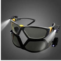 LED 조명 독서 안경 안경 야간 라이드 안경 슈퍼 브라이트 고글