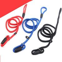 50pcs DHL Nylon corde Chien Whisperer César Millan Style Slip Entraînement Laisse en laisse et collier en stock Livraison gratuite