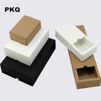Frete grátis favores da festa de casamento caixa de presente branco pequena caixa kraft para sabão jóias caixas de papel de gaveta DIY para embalagem 50 pcs