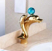 New arrivals  bathroom faucet high quality Gold Dolphin basin faucet cold and hot sink bathroom water tap mixer