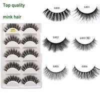 5 Pairs 3D Mink Hair lash Natural soft Cross False Eyelashes...