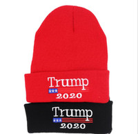 Wholesale sports beanies online - Trump Beanies Cap Outdoor Presidential  Election Hat Letter Warm Headwear Knitting 154913a45