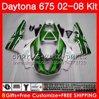 Kit For Triumph verde blanco Daytona 675 2002 2003 2004 2005 2006 2007 2008 Cuerpo 04HM.83 Daytona675 Daytona 675 02 03 04 05 06 07 08 Carenado