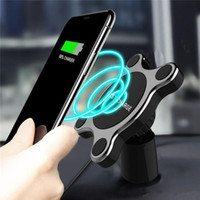 Cargador inalámbrico Car Holder Soporte magnético Car Air Vent Mount para iPhone X Android Samsung con paquete comercial