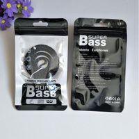 3000 teile / los 9 * 16 cm Reißverschluss Kunststoff kleinbeutel paket hängen loch verpackung headset kabel opp verpackung tasche für Stereo Kopfhörer