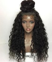 Grade 7A Kinky Curly Lace Front Human Hair Wigs Brazilian Fu...