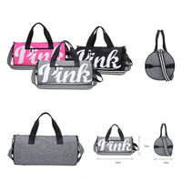 PINK Handbags Letter Large Capacity Travel Duffle Shoulder B...