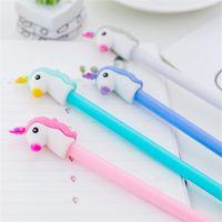 Cancelleria per penna di gel di unicorno Forniture per la scuola di Kawaii Forniture per ufficio di penna di inchiostro di gel Penna Regali per bambini