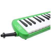 2 stuks van (37 melodica-sleutels melodische muziekinstrument met draagtas voor studenten beginners kinderen groen)