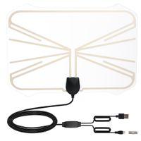 1080P TV numérique Antenne intérieure avec USB Powered Amplificateur 50 Miles longue distance HDTV Antenne