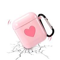 الوردي القلب لينة حالة تبو سماعة كم لابل AirPods الحالات الغطاء الواقي سيليكون حامي DHL مجانا