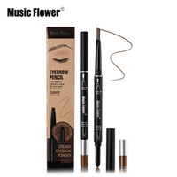 3 Color Music Flower Brand Makeup 2 In 1Automatic Eyebrow Pe...