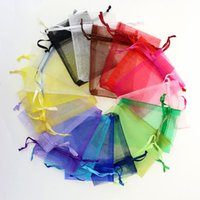 100pcs lot MIX Colors 13X18CM Organza SolId Color Jewelry Po...