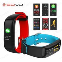 SOVO Smart band P1 PLUS Цветной дисплей Фитнес-Браслет Пульсометр Монитор Артериального Давления Браслет IP67 Водонепроницаемый