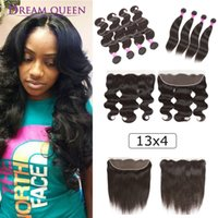 Peruvian Virgin Human Hair Extensions Body Wave Straight 4 B...