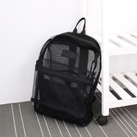 Fashion Women Transparent Backpack Mesh Backpack For Boys An...