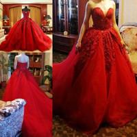 Красный Бальное Платье Платья Выпускного Вечера Сексуальная Милая Кружева Аппликации Вечерние Платья Вечерние Платья Вечернее Платье