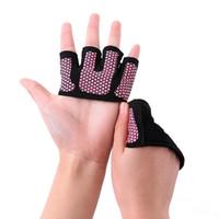 Ioga Metade Dedo Luva de Fitness Respirável Deslizamento Dedos Palma Mãos Dedos Meio Luvas Unisex