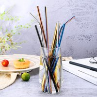 304 Stainless Steel Colored Drinking Straws 21. 5mm 26. 5mm Be...