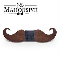 Mahoosive yenilik neckties El Yapımı bıyık Ahşap papyon erkekler papyon erkek boyun bağları fabrika toptan ücretsiz kargo