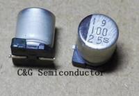 200pcs 25V 100uF 6 * 7 SMD Aluminio condensadores electrolíticos