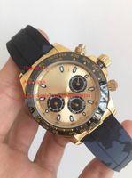 3 colores de alta calidad reloj 40 mm 116515 116508 oro amarillo 18k oro rosa sin cronógrafo trabajando mecánico mecánico para hombre reloj de hombre