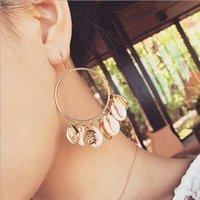 Mode Frauen Puka Natural Shell Ohrringe Elfenbein Farbe Quaste Boho Sommer baumeln Ohrringe Handmade Drop