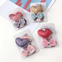 Boutique 12sets 2in1 Fashion Kawaii Glitter Heart Hairpins S...
