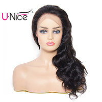 UNice Brazilian Body Wave Human Hair 360 Lace Front Wigs for...